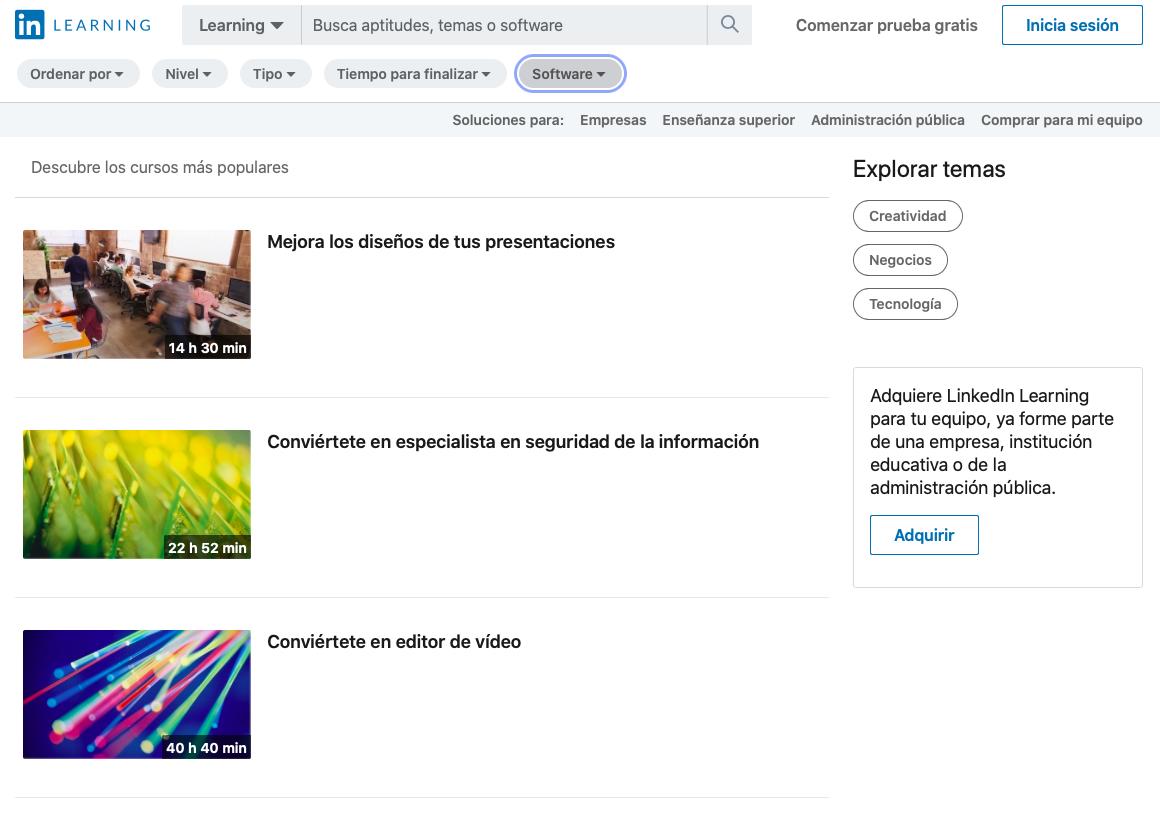Plataforma De Aprendizaje En LinkedIn