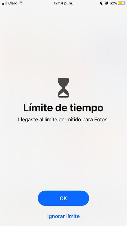 Avsio De Tiempo En Pantalla De iPhone