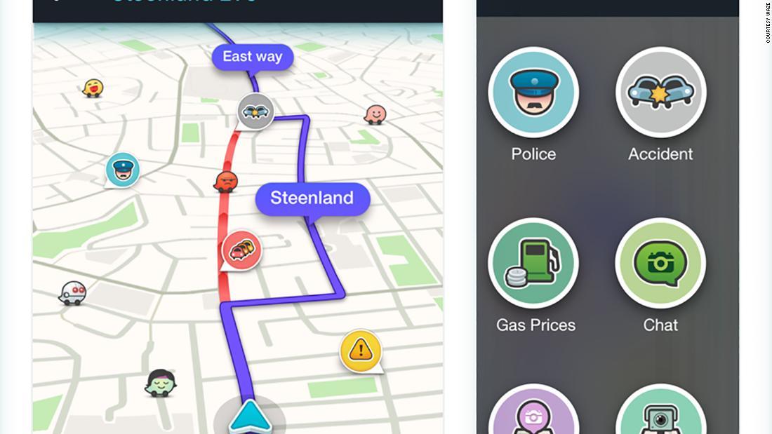 Interfaz De GPS De Waze