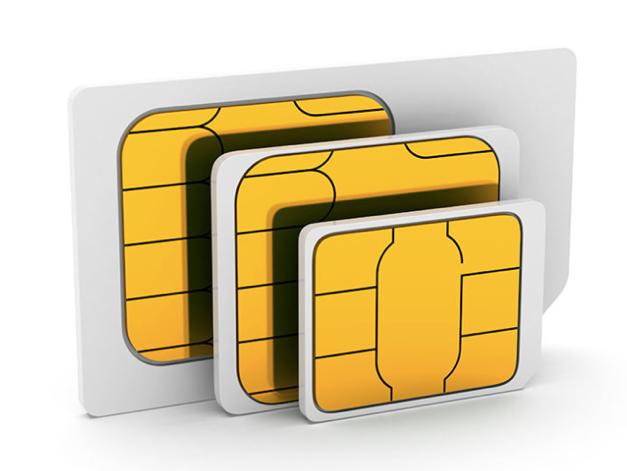 Presentación De Tarjeta SIM En Tres Formas