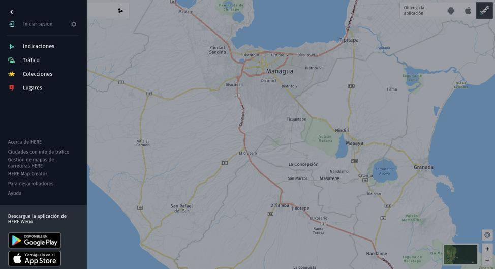 Interfaz De GPS De Here