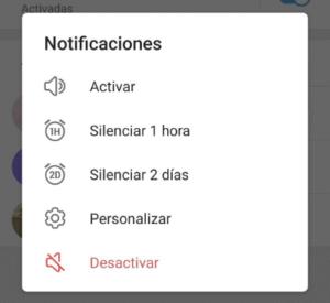 Imagen Interfaz Para Silenciar Para Siempre en iOS