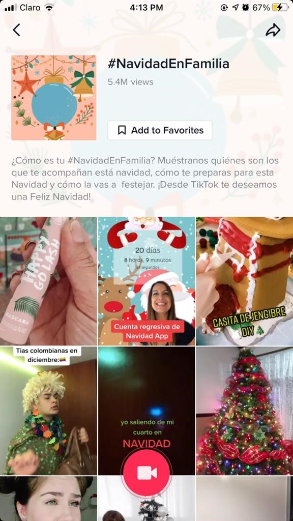 Imagen De TitTok Con Hashtag Navidad En Familia