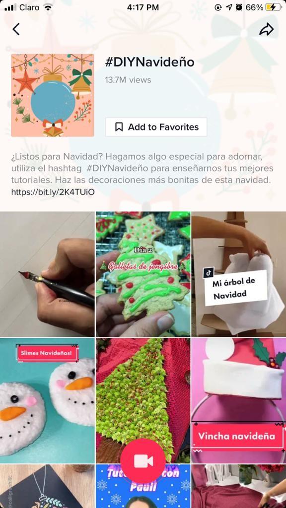Imagen De TitTok Con Hashtag DIY Navideño