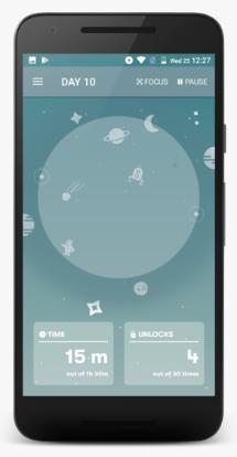 Render de Interfaz de App Space