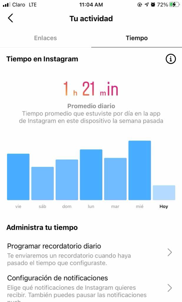 Registro De Tiempo De Actividad Con Instagram