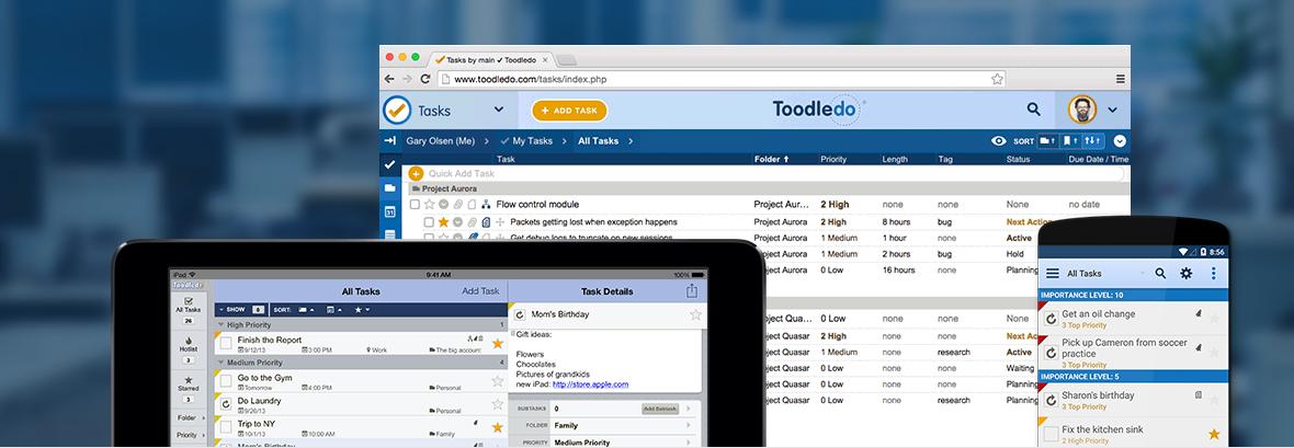 Render Presentación De Diferentes Interfaces App Toodledo.