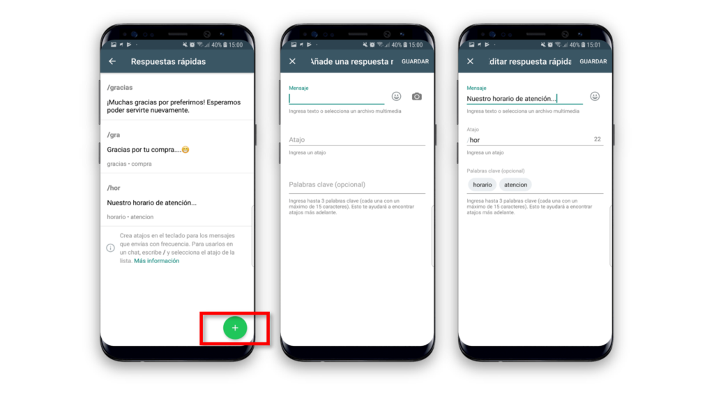 Tres Interfaces Mensaje Automático En WhatsApp Business