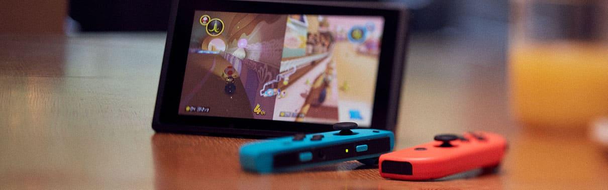 Imagen Del Nintendo Switch Con Juego De Mario Kart