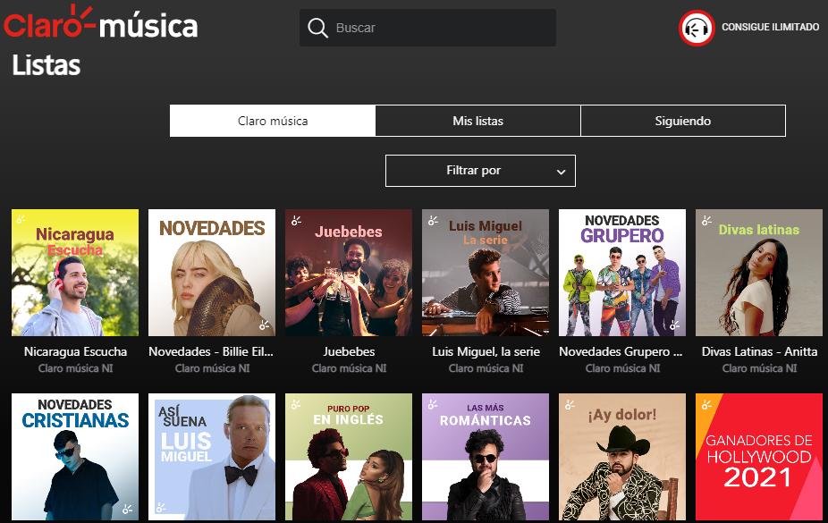 Servicio Streaming Con Claro Música