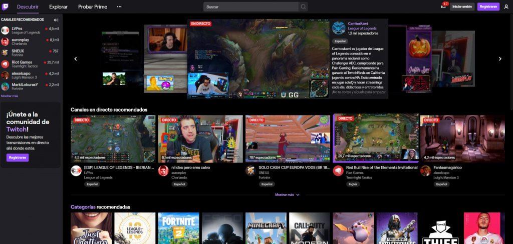 Plataforma Twitch Para Videojuegos