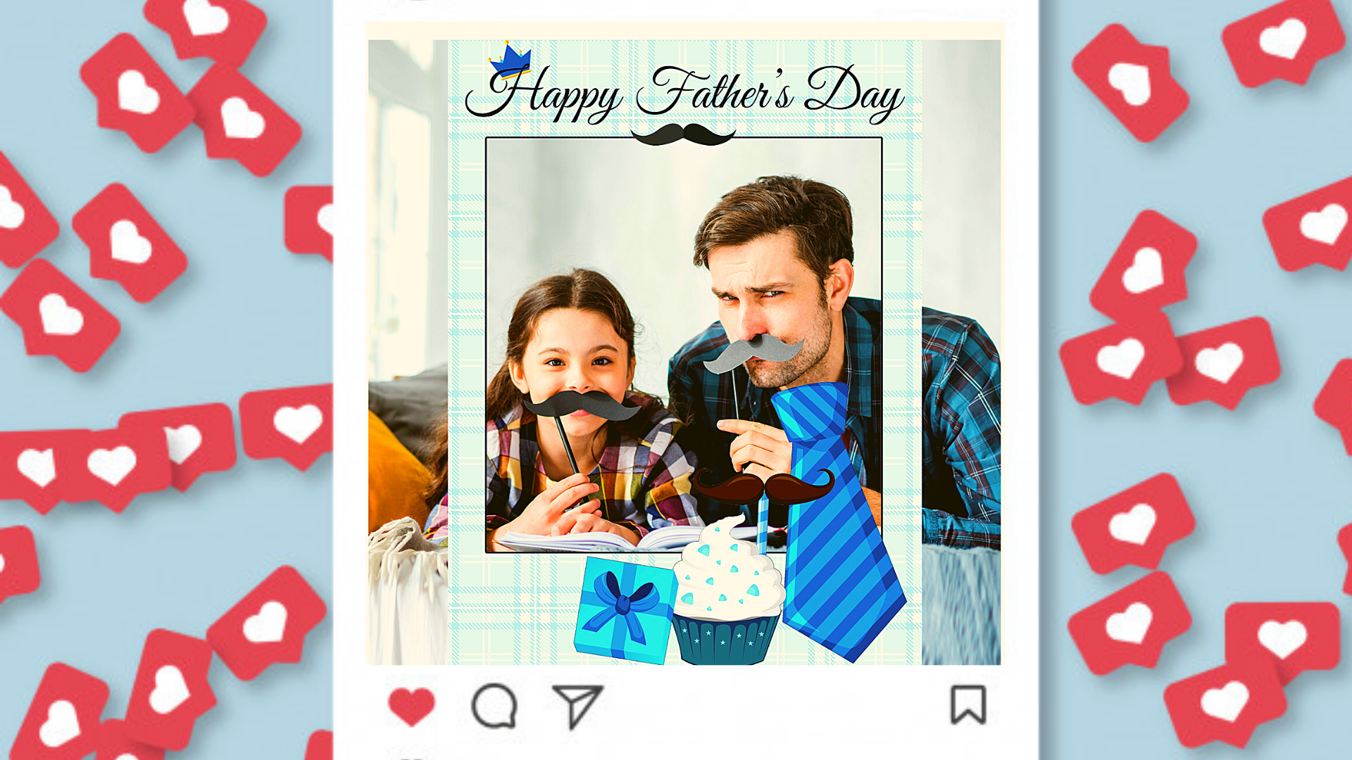 Foto Familiar Para El Día Del Padre