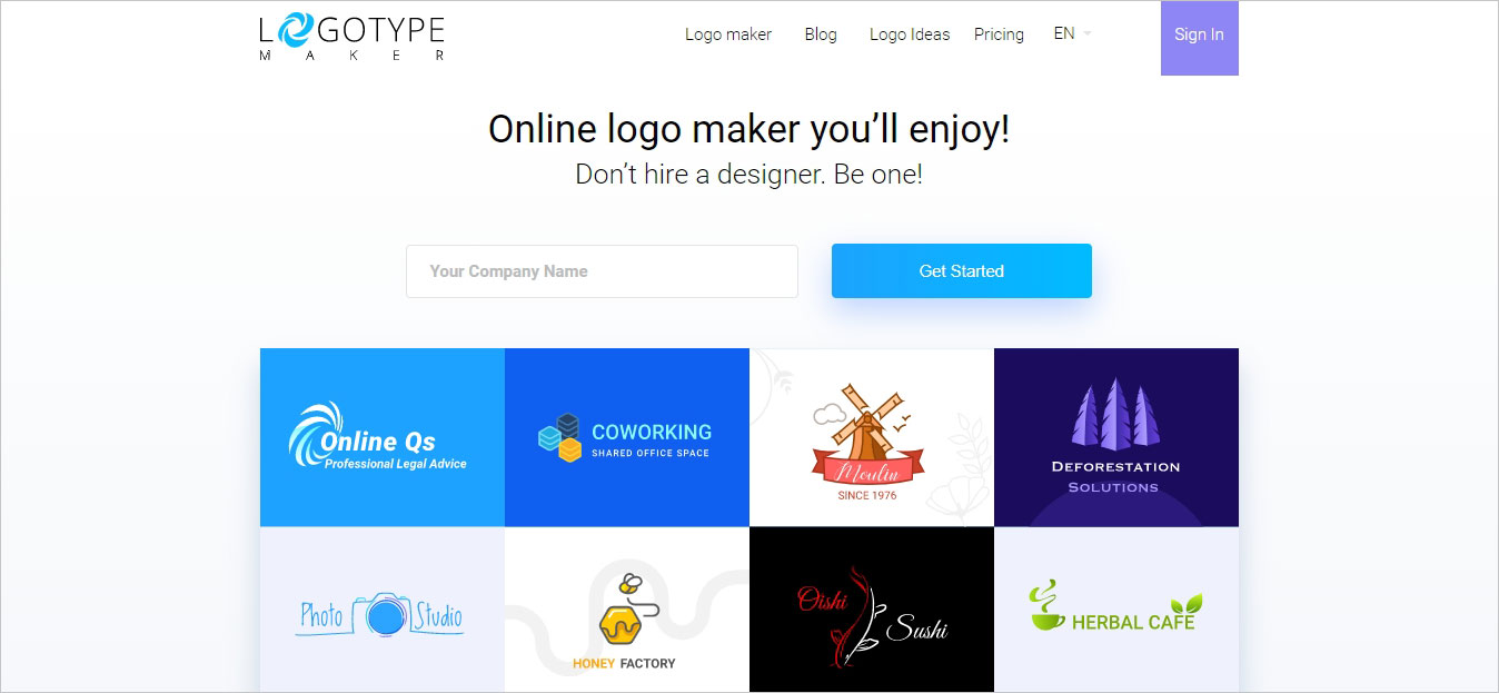 Creación De Logo Con Logotype