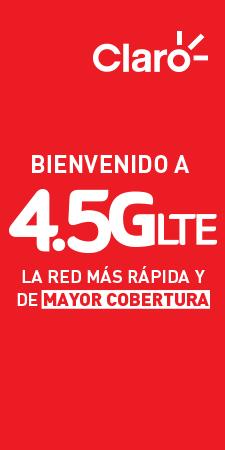 Bienvenido a 4.5G LTE la red más rápida y de mayor cobertura.