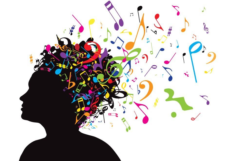 Imagen De Notas Musicales Saliendo De Una Cabeza